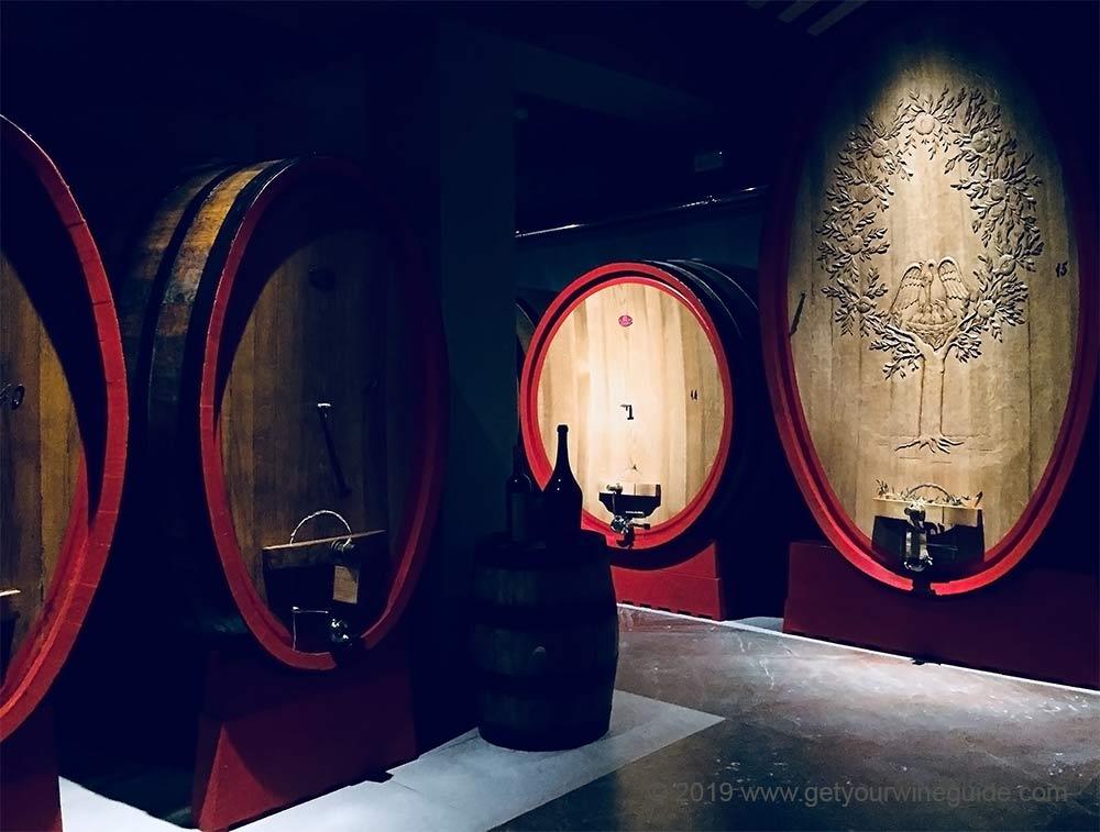 Amarone wine barrels