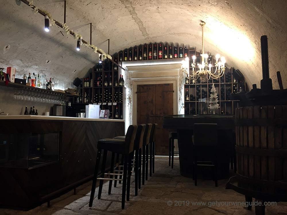 Tasting room in Valpolicella