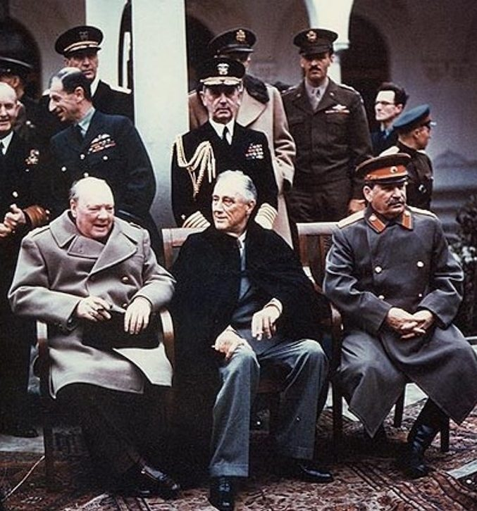 Churchill, Roosvelt, Stalin at Yalta summit