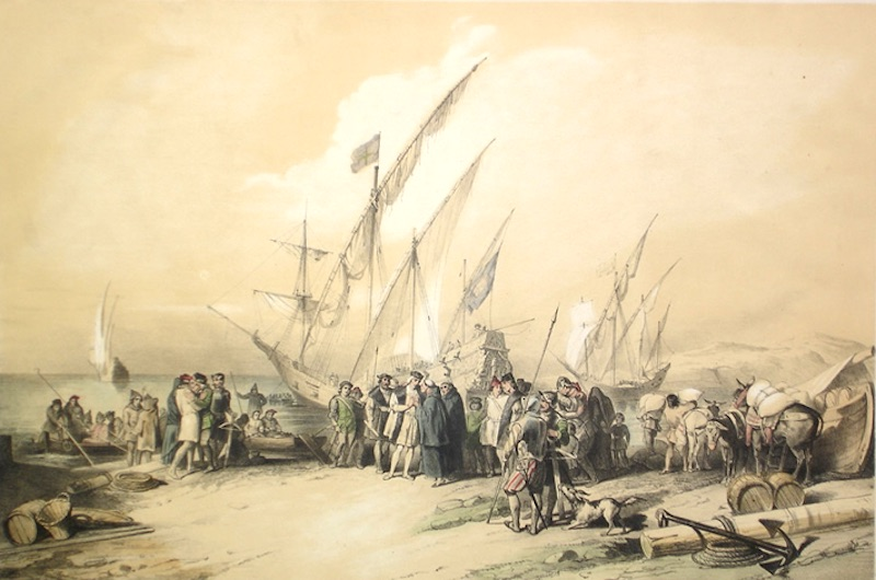 Columbus loading ships