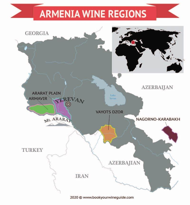 Armenia Wine Regions map