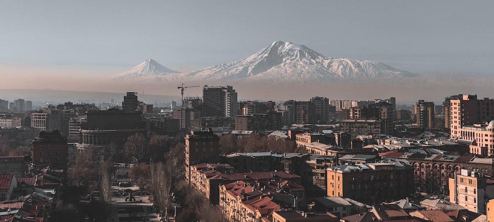 Yerevan, the mount Ararat on the background