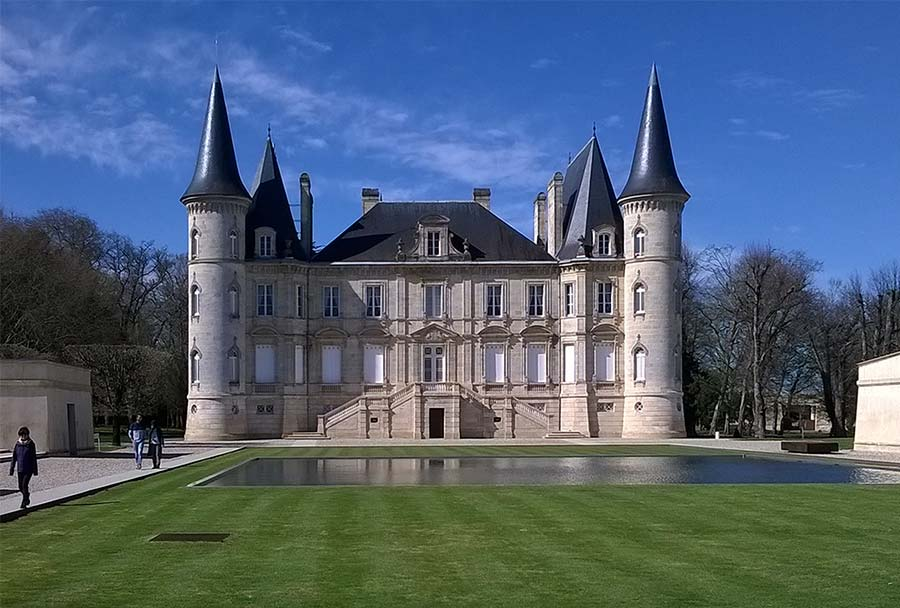 a chateau in the Medoc wine producing region
